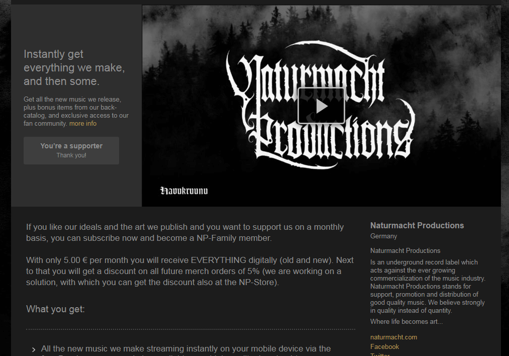 Join the NP-FAMILY! - Naturmacht Productions | Rain Without